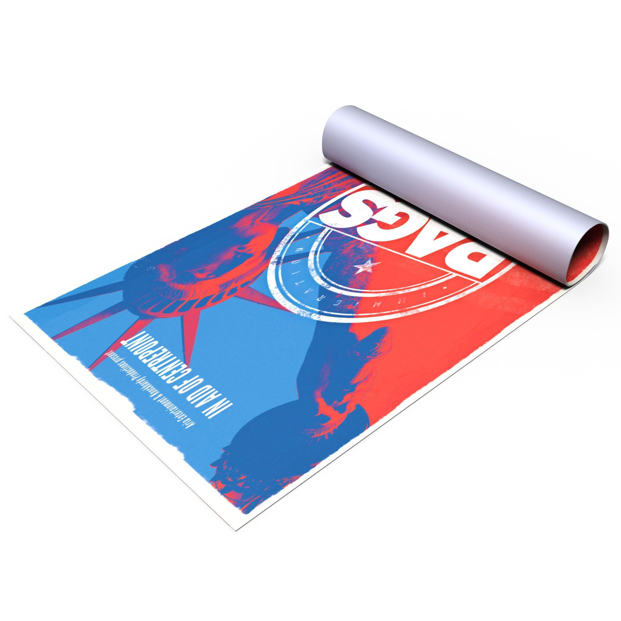 постер на бумаге печать качество сена